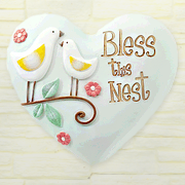 Bless This Nest, Heart Expressions Stone  -