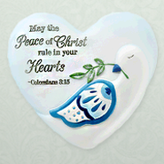 May the Peace of Christ, Heart Expressions Stone  -