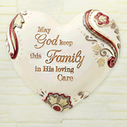 God Keep This Family, Heart Expressions Stone  -
