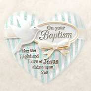 On Your Baptism, Heart Expressions Stone  -