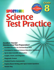 Spectrum Science Test Practice Grade 8   -