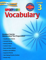 Spectrum Vocabulary Grade 3, 2007 ed.    -
