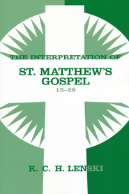 Interpretation of St. Matthew's Gospel, Chapters 15-28, Vol. 2 - Slightly Imperfect  -     By: R.C.H. Lenski