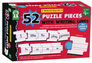 Write-on/Wipe-off: 52 Puzzle Pieces with Writing Lines  -     By: Sherrill B. Flora