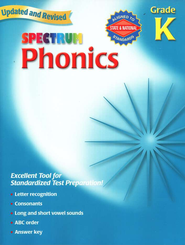 Spectrum Phonics, 2007 Edition, Grade K   -