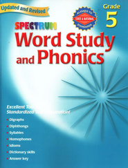 Spectrum Phonics, 2007 Edition, Grade 5   -