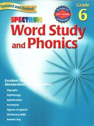Spectrum Phonics, 2007 Edition, Grade 6   -