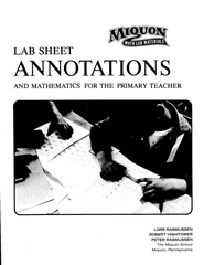 Miquon Math: Lab Sheet Annotations   -     By: Lore Rasmussen