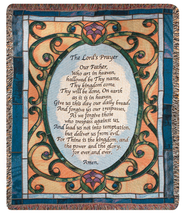Lords Prayer Tapestry Throw  -