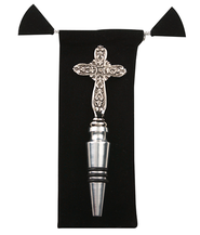 Cross Bottle Stopper with Black Bag  -