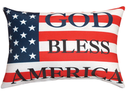 God Bless America Word Pillow  -
