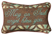 May an Irish Angel Bless You Word Pillow  -
