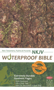 NKJV Waterproof NT with Psalms and Proverbs, Camouflage  -