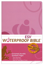ESV Waterproof Bible, Pink/Brown Floral - Slightly Imperfect  -