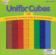 Unifix Cubes, 100 Pieces   -
