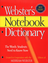 Webster's Notebook Dictionary   -