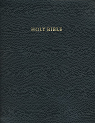 KJV Concord Wide-Margin Reference Bible, Calf Split leather, black  -