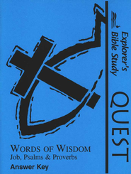 Bible Quest: Words Of Wisdom, Answer Key   -