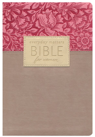 NLT Everyday Matters Bible for Women, Flexisoft Rose/Floral   -