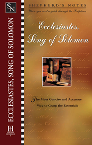 Shepherd's Notes on Ecclesiastes/Song of Solomon - eBook  -
