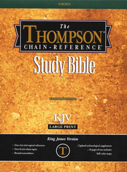 KJV Thompson Chain-Reference Bible, Large Print, Burgundy  Genuine Leather, Capri Grain, Thumb Indexed  -