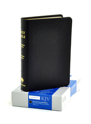 KJV Concord Reference Bible, French morocco leather, black  (black letter)  -