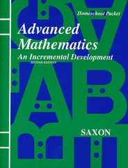 Saxon Advanced Math, Answer Key Booklet & Test Forms  - Slightly Imperfect  -