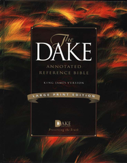 KJV Dake Annotated Reference Bible, Large Print, Hardcover   -