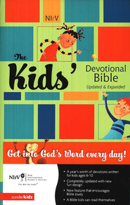 NIrV Kid's Devotional Bible, Updated and Expanded Softcover - Slightly Imperfect  -