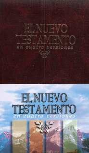 NT en Cuatro Versiones: New Testament, Four Versions, Hardcover  -
