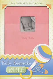 NIV Baby Keepsake Bible, Italian Duo-Tone &#153, Pink, Imitation Leather - Slightly Imperfect  -