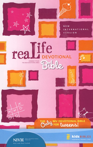 ReaLife Devotional Bible for Kids, NIV Pink 1984  -              By: Mark Littleton, Marnie Wooding