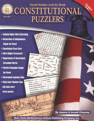 Constitutional Puzzlers--Grades 4 and Up   -     By: Jeanne Cheyney, Arnold Cheyney