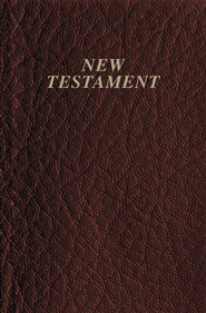 KJV Vest Pocket New Testament, Imitation leather, Burgundy   -