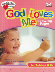 God Loves Me Coloring Pages (ages 0-2)   -