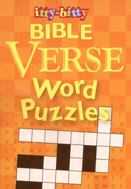 Itty-bitty Bible Verse Crossword Puzzles  -