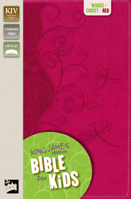 King James Version Bible for Kids, Italian Duo-Tone &#153, Pink Vines  -
