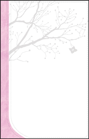 GOD'S WORD God Girl Bible, Duravella, White/Pink with tree design  - Imperfectly Imprinted Bibles  -     By: Hayley DiMarco