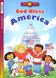 God Bless America, Coloring Book  - Slightly Imperfect  -