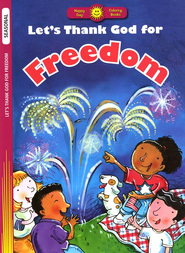 Let's Thank God for Freedom, Coloring Book  - Slightly Imperfect  -