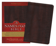 GWT The Names of God Bible, Imitation leather, burgundy   -              By: Ann Spangler