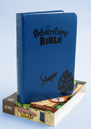 NIV Adventure Bible, Iguana Blue - Imperfectly Imprinted Bibles  -