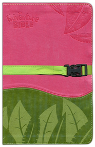 NIV Adventure Bible, Pink/Green with Clip Closure  -