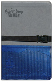 NIV Adventure Bible, Gray/Blue with Clip Closure  -
