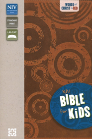 NIV Thinline Bible for Kids, Sienna Duo-Tone  -