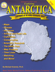 Continents of the World Geography Series: Exploring  Antarctica, Grades 4-8+                    -     By: Michael Kramme Ph.D.
