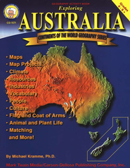 Continents of the World Geography Series: Exploring Australia, Grades 4-8+  -     By: Michael Kramme Ph.D.