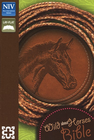Wild About Horses Bible, Italian Duo-Tone, Toffee   -