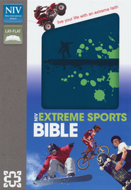 NIV Extreme Sports Bible, Italian Duo-Tone, Blue/Green  -