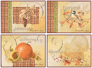 Joyful Harvest Placemats, Set of 4  -              By: Sandy Clough